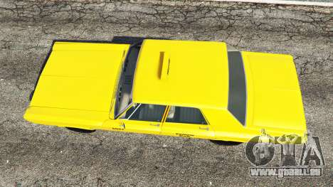 GTA 5 Plymouth Belvedere 1965 Taxi [replace] vue arrière