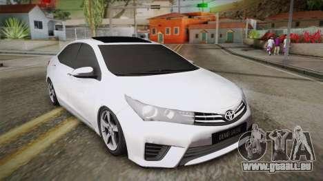 Toyota Corolla 2015 pour GTA San Andreas
