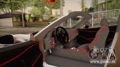 Ferrari 458 Spider für GTA San Andreas Innenansicht