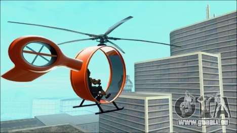 Futuristic Helicopter pour GTA San Andreas laissé vue