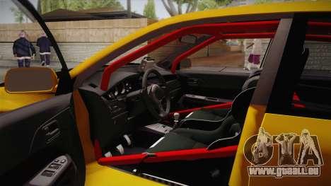 Mitsubishi Lancer Evolution IX Tuned pour GTA San Andreas vue arrière