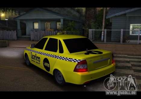 Lada Priora Taxi-Der Wind für GTA San Andreas rechten Ansicht