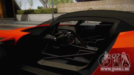 Aston Martin Vulcan pour GTA San Andreas vue intérieure
