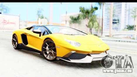Lamborghini Aventador LP720-4 Roadster 2013 für GTA San Andreas
