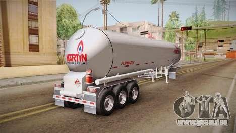 Trailer Americanos v3 pour GTA San Andreas sur la vue arrière gauche