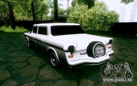 Walton Sedan pour GTA San Andreas sur la vue arrière gauche