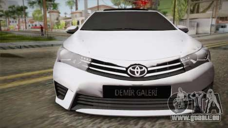 Toyota Corolla 2015 pour GTA San Andreas vue de droite