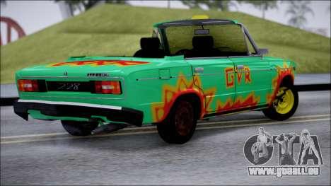 VAZ 2106 pour GTA San Andreas vue de droite