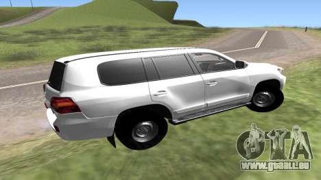 Toyota Land Cruiser 200 für GTA San Andreas rechten Ansicht
