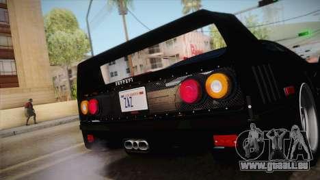 Ferrari F40 (US-Spec) 1989 IVF pour GTA San Andreas vue de droite
