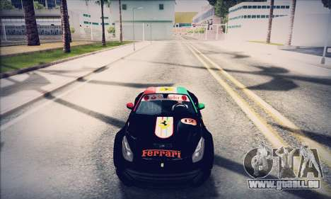 Ferrari F12 Berlinetta pour GTA San Andreas vue intérieure
