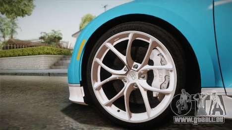 Bugatti Chiron 2017 für GTA San Andreas zurück linke Ansicht