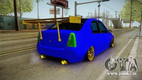 Dacia Logan Stance Haur Edition für GTA San Andreas zurück linke Ansicht