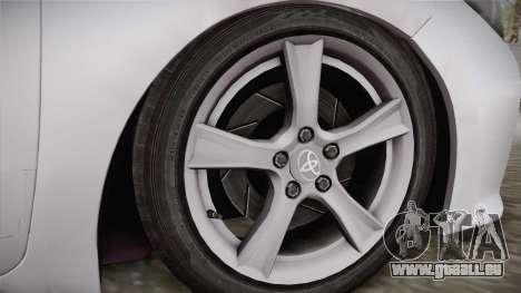 Toyota Corolla 2015 pour GTA San Andreas sur la vue arrière gauche