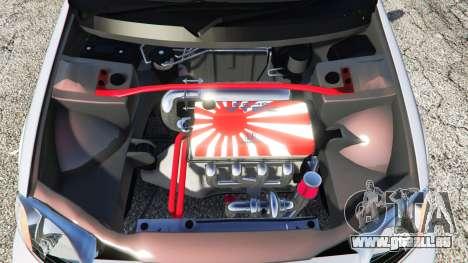 GTA 5 Honda Civic EK9 [kanjo edition] [replace] arrière droit vue de côté