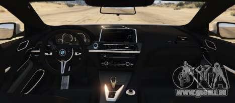 GTA 5 BMW M6 F13 Coupe 2013 arrière vue latérale gauche