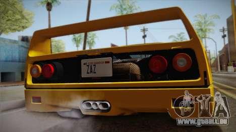 Ferrari F40 (EU-Spec) 1989 IVF pour GTA San Andreas vue de droite