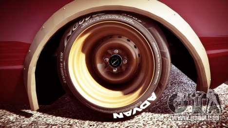 GTA 5 Nissan Skyline GT-R C110 Liberty Walk [replace] arrière droit vue de côté