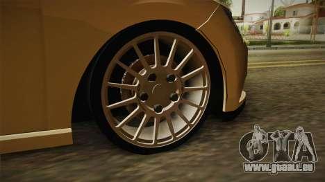 Seat Leon FR für GTA San Andreas Rückansicht