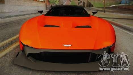Aston Martin Vulcan für GTA San Andreas zurück linke Ansicht