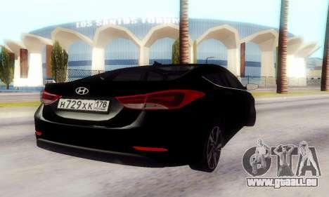 Hyundai Elantra 2015 für GTA San Andreas rechten Ansicht