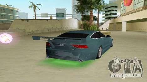 AUDI A7 SPORTS pour GTA Vice City sur la vue arrière gauche