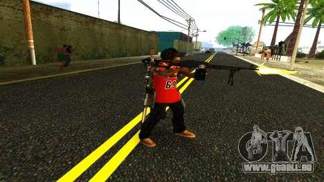 PKM Noir pour GTA San Andreas deuxième écran