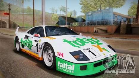 Ferrari F40 (EU-Spec) 1989 IVF für GTA San Andreas obere Ansicht