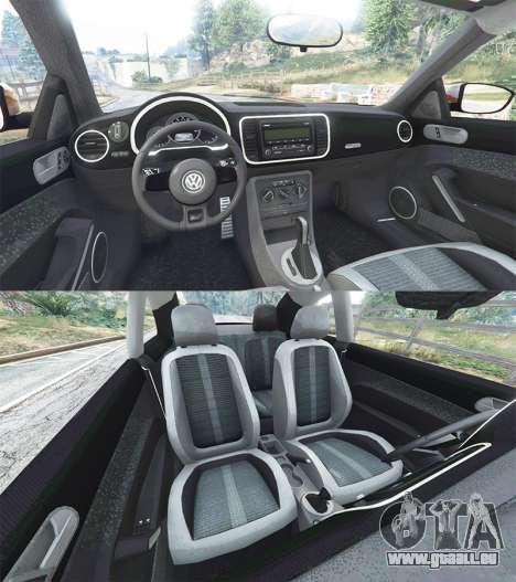 GTA 5 Volkswagen Beetle Turbo 2012 [replace] arrière droit vue de côté