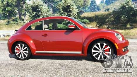 GTA 5 Volkswagen Beetle Turbo 2012 [replace] vue latérale gauche