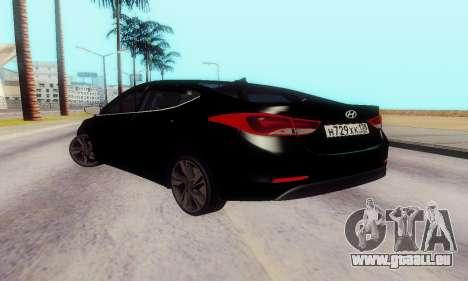 Hyundai Elantra 2015 für GTA San Andreas zurück linke Ansicht
