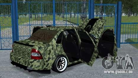 Lada Priora Style pour GTA San Andreas laissé vue