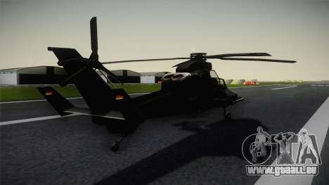 Eurocopter Tiger für GTA San Andreas zurück linke Ansicht