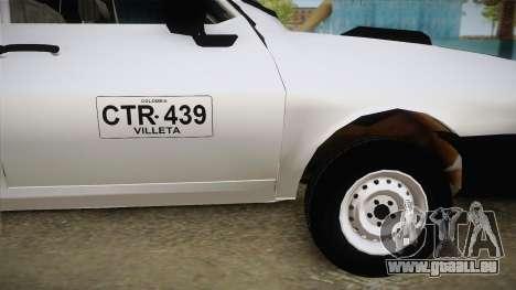 Dacia 1300 Drop Side für GTA San Andreas zurück linke Ansicht
