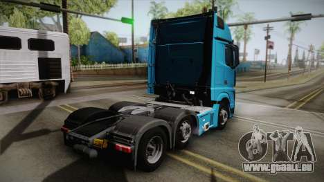 Mercedes-Benz Actros Mp4 6x2 v2.0 Gigaspace für GTA San Andreas linke Ansicht