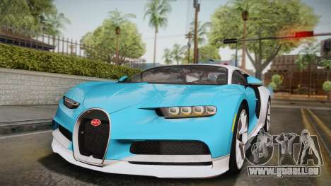 Bugatti Chiron 2017 für GTA San Andreas Unteransicht