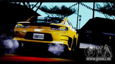 Chevrolet Camaro SS 2016 Bumblebee TF 5 pour GTA San Andreas vue de droite