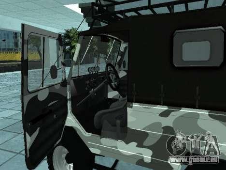 LUAZ 969М Hiver camo pour GTA San Andreas vue de droite