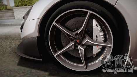 McLaren 675LT 2015 5-Spoke Wheels pour GTA San Andreas vue de droite