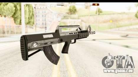 GTA 5 Hawk & Little Bullpup Rifle pour GTA San Andreas deuxième écran
