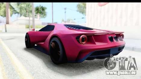 Ford GT 2016 pour GTA San Andreas sur la vue arrière gauche