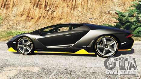 GTA 5 Lamborghini Centenario LP770-4 2017 [add-on] vue latérale gauche