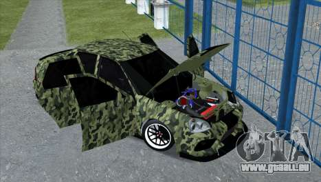 Lada Priora Style pour GTA San Andreas sur la vue arrière gauche