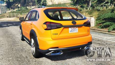 GTA 5 BYD Tang 2015 [add-on] arrière vue latérale gauche