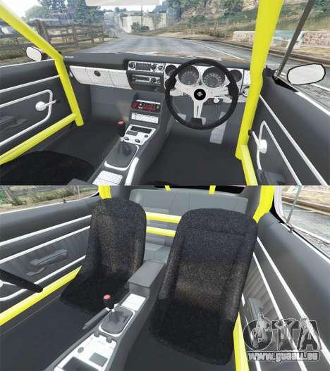 GTA 5 Nissan Skyline GT-R C110 Liberty Walk [replace] avant droite vue de côté