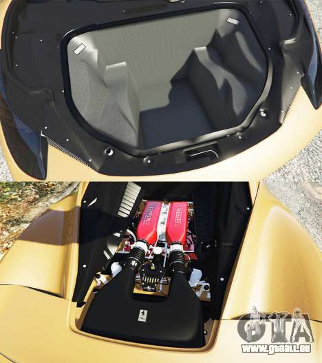GTA 5 Ferrari 458 Italia [add-on] rechte Seitenansicht
