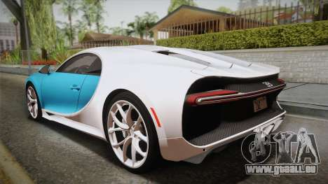Bugatti Chiron 2017 pour GTA San Andreas laissé vue
