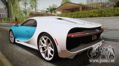 Bugatti Chiron 2017 für GTA San Andreas linke Ansicht