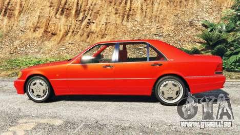 GTA 5 Mercedes-Benz W140 AMG orange signals [replace] linke Seitenansicht