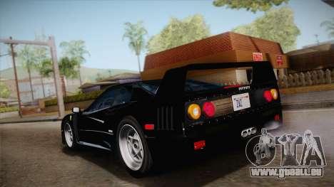 Ferrari F40 (US-Spec) 1989 IVF pour GTA San Andreas laissé vue